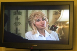 Ending the night with Dolly on TV.
