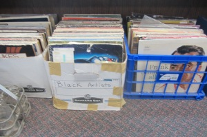 """Not sure why the bin with the Frank Sinatra record in it isn't labelled """"White Artists""""."""