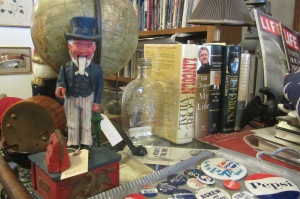 Awesome Civil War memorabilia in one of Marietta's many antique shops.
