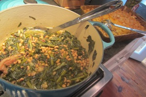 Lucky New Year collards and black-eyed peas.