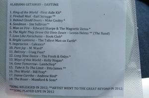 Amazing Alabama Getaway playlist - Daytime edition.