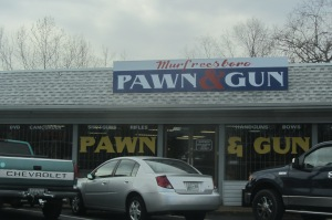 Murfreesboro Pawn and Gun, where Riccardo might have worked had his parents moved to Tennessee in the early 90s.