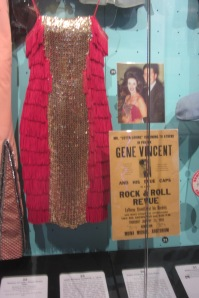 My only photo from the Rock Hall, where photography is prohibited: Wanda Jackson's ACTUAL DRESS.
