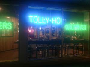 The delighful Tolly-Ho diner.