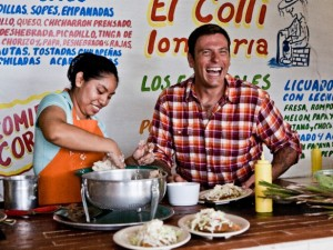 All the information we had about the mythical taqueria came from this photo. (Photo by Riccardo Cellere)