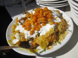 Papri chaat from a nondescript stall in Pune.