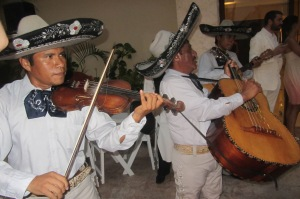 Delightful mariachi band from the wedding, giving it their all. ¡Olé!