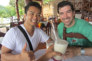 A delicious pina colada not made with watered-down rum!