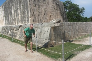 Making a mockery of the Mayan feathered snake deity. Tsk tsk.