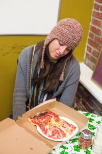 The Sicilian Slab - the pizza of the gods. Available at Micucci, a grocery store in downtown Portland.