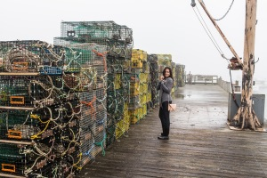 Lobster traps in Cape Porpoise, near Kennebunkport.