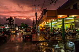 A poetic image of our favourite taqueria in Playa del Carmen.