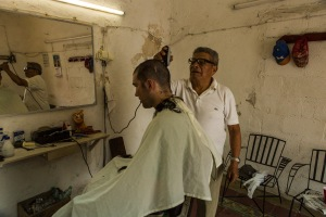 This barber in Valladolid is a master of his craft. Thanks to our fellow bar patrons for helping us find him.