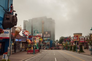 """Clifton Hill, the so-called """"Street of Fun by the Falls"""", is downright eerie at 7am."""