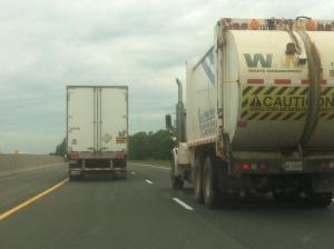 Classic douchebag move: the truck barricade.