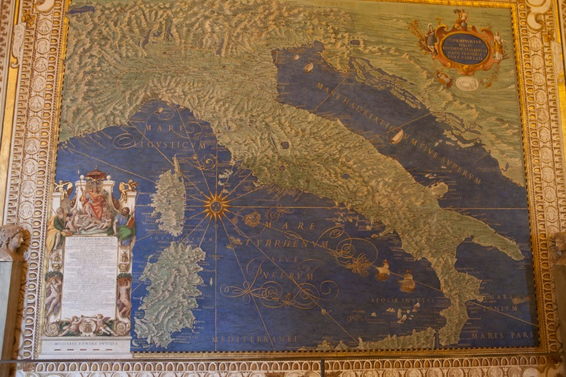 Stunning medieval map of Italia.