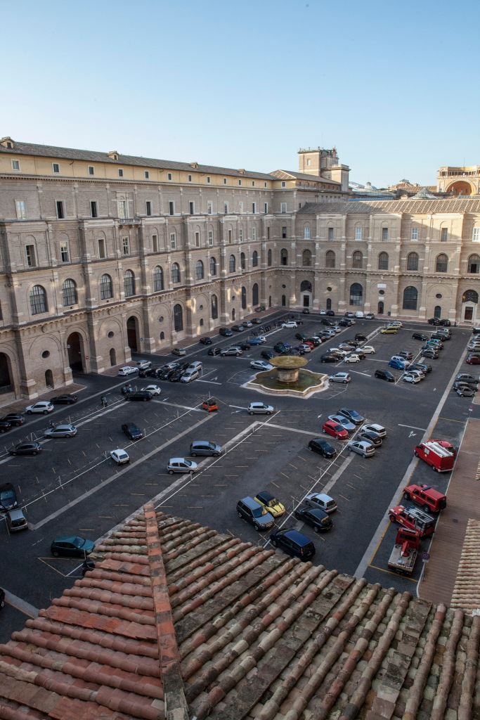 ...And here's the Vatican parking lot!