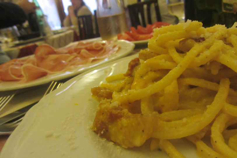 First carbonara in Rome. First of the day, that is.