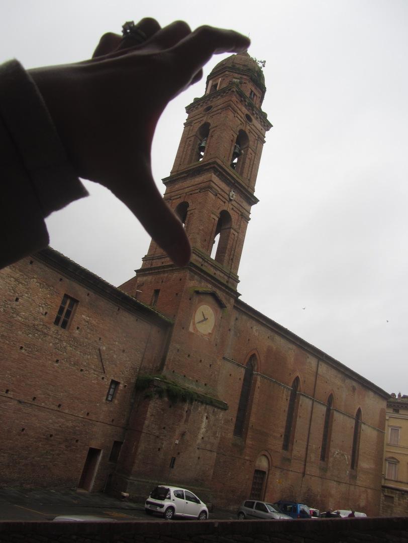 Tiny medieval clock tower.