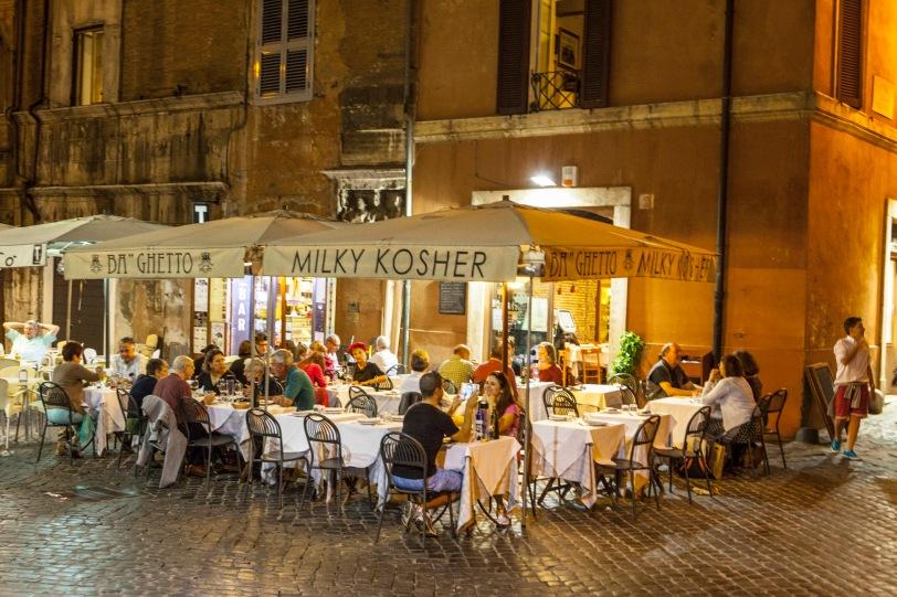 Milky Kosher, Rome's premier kosher restaurant.