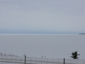 Beautiful, icy Lac-Saint-Jean.
