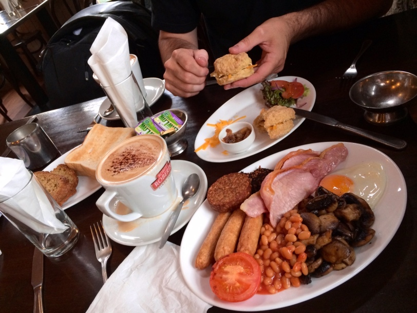 Welcome to Ireland. Here's your full Irish breakfast, complete with four types of meat.