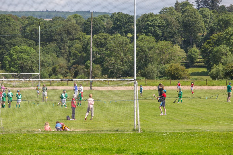 The ancient Gaelic sport of hurling, still very much alive and well.