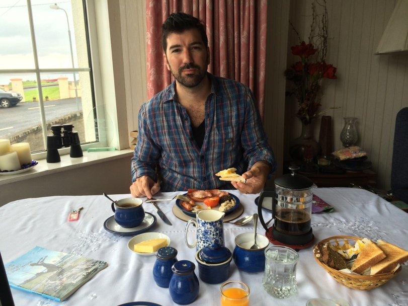 Full Irish breakfast of champions in Rosses Point, Co Sligo.