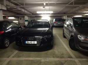 Farewell to Munich: the douchiest parking job ever. We're on the left.
